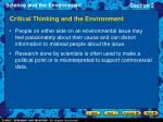 critical thinking and the environment
