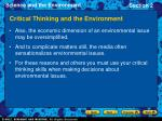 critical thinking and the environment21
