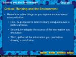 critical thinking and the environment22