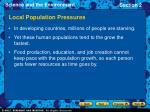local population pressures15