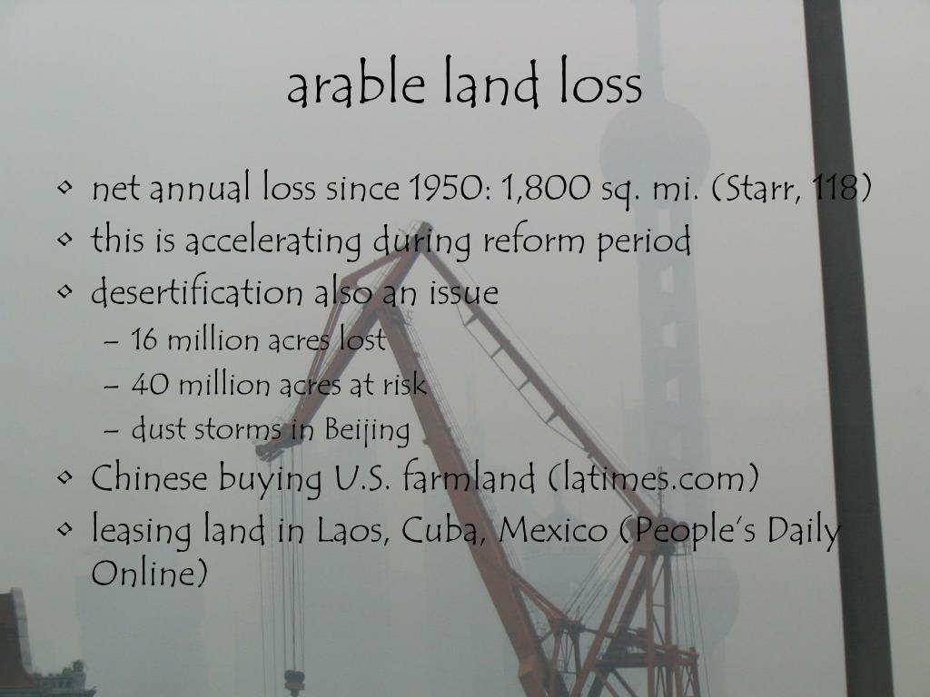 arable land loss