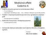 medisinsk effekt cedertre a