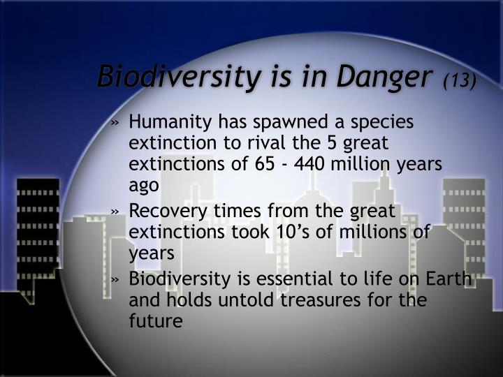 biodiversity growth and extinction