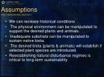 assumptions http www ies wisc edu cre