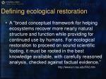 defining ecological restoration5