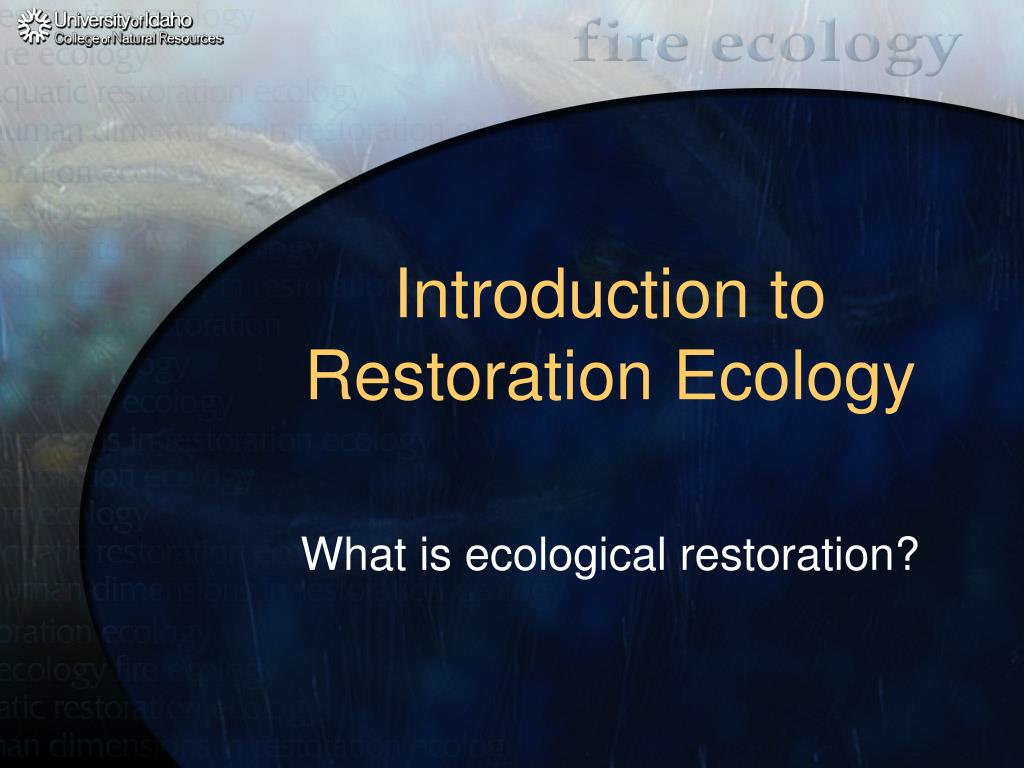 introduction to restoration ecology l.