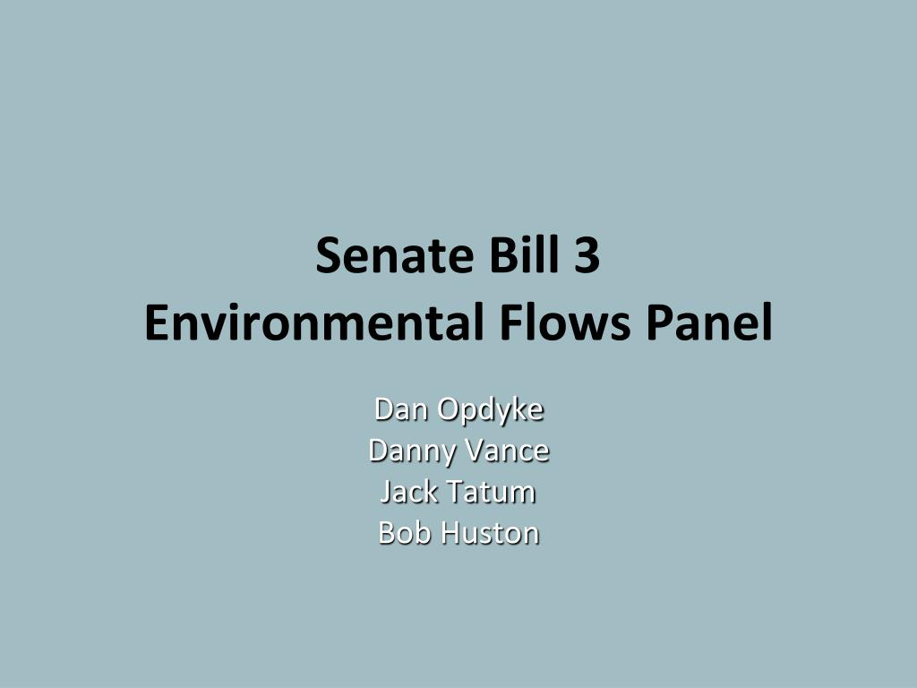 senate bill 3 environmental flows panel l.