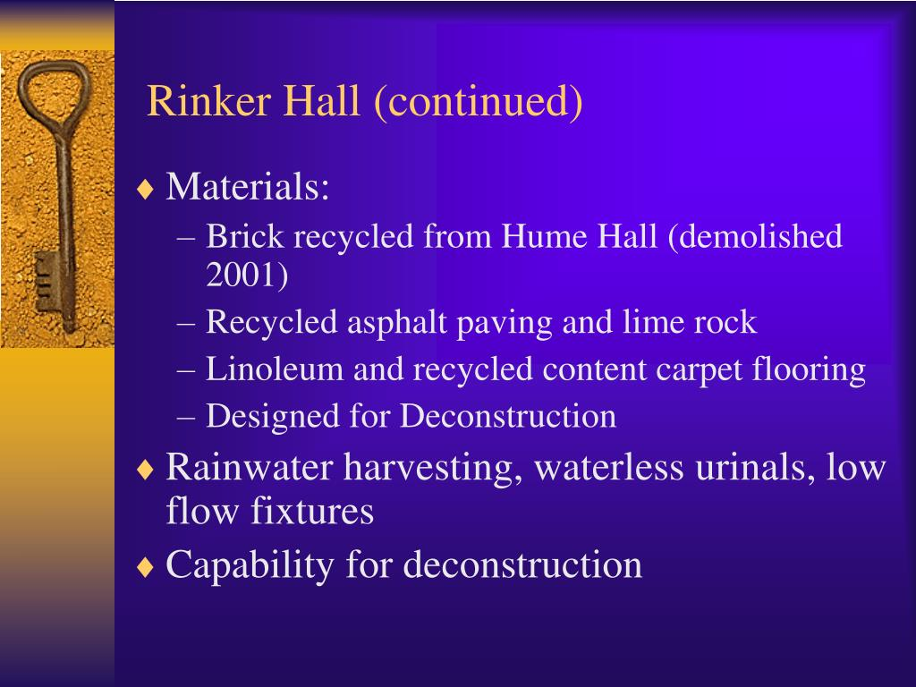 Rinker Hall (continued)