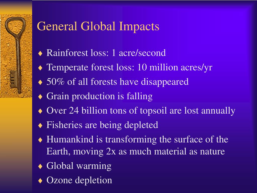 General Global Impacts