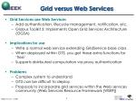 grid versus web services