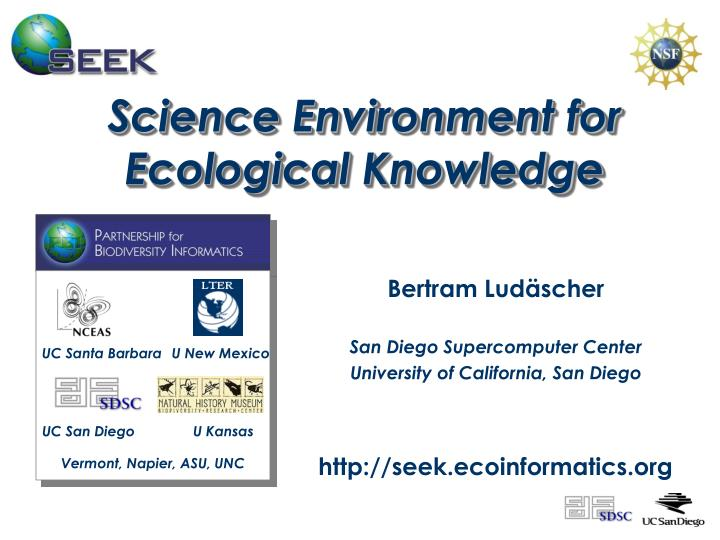 Science environment for ecological knowledge