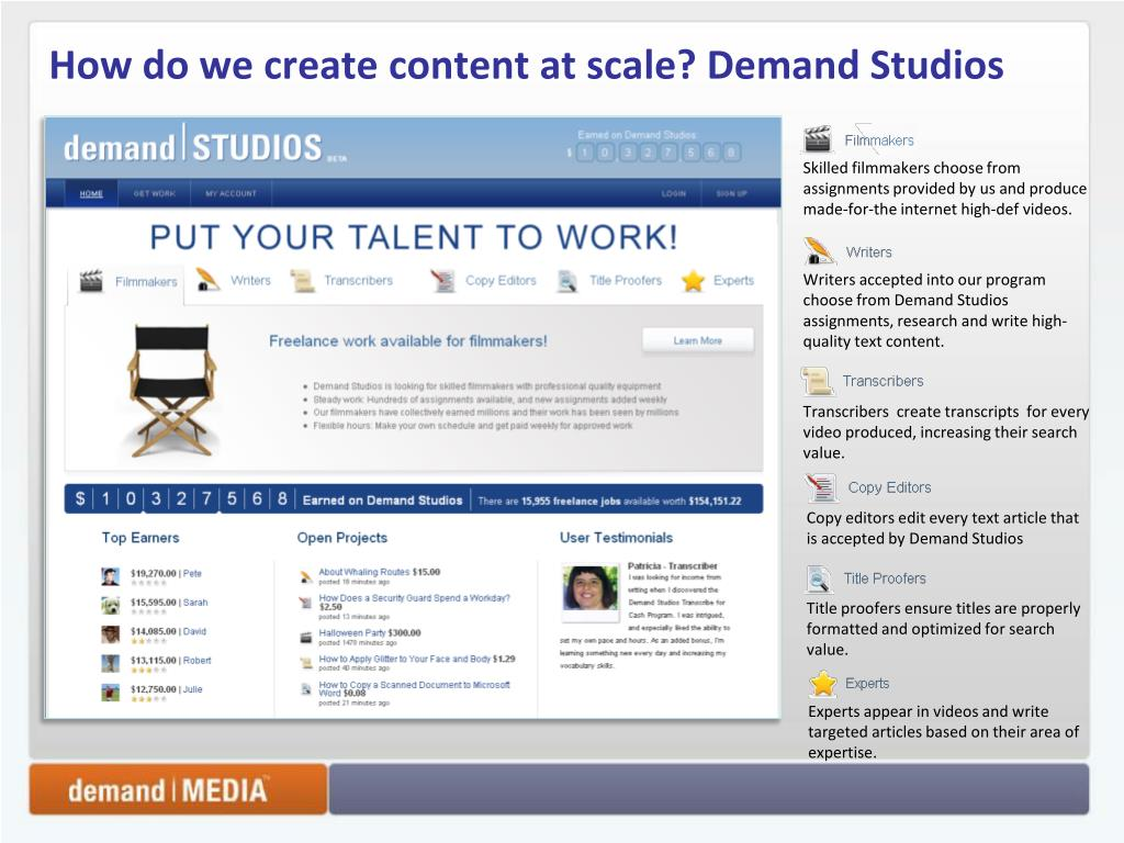 How do we create content at scale? Demand Studios