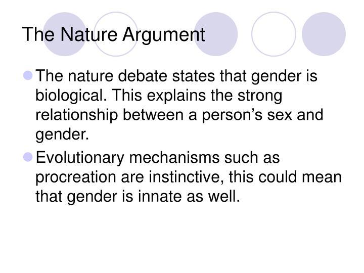 the nature debate