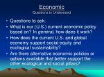 economic questions to understand