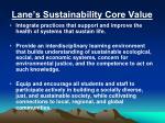 lane s sustainability core value