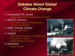 debates about global climate change