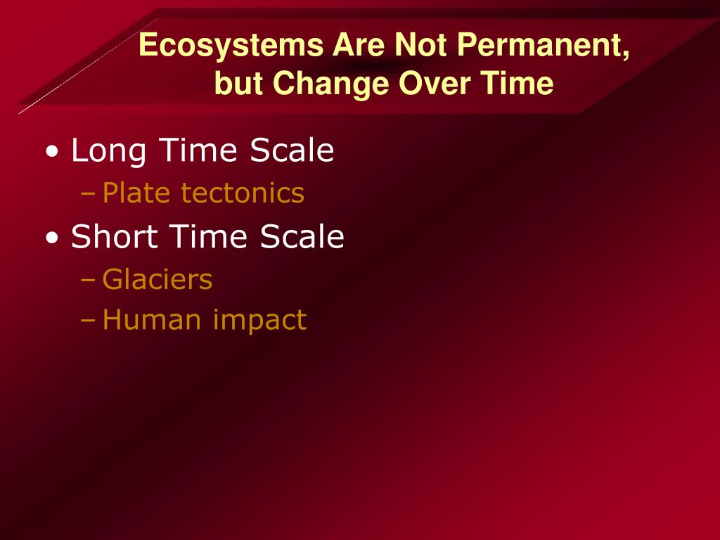 Ecosystems Are Not Permanent,
