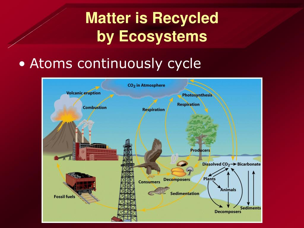 Matter is Recycled