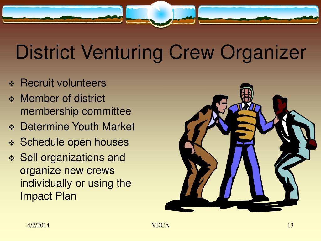District Venturing Crew Organizer