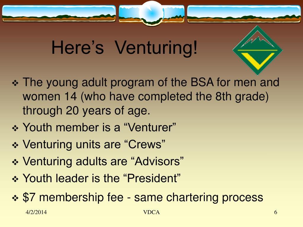 Here's  Venturing!