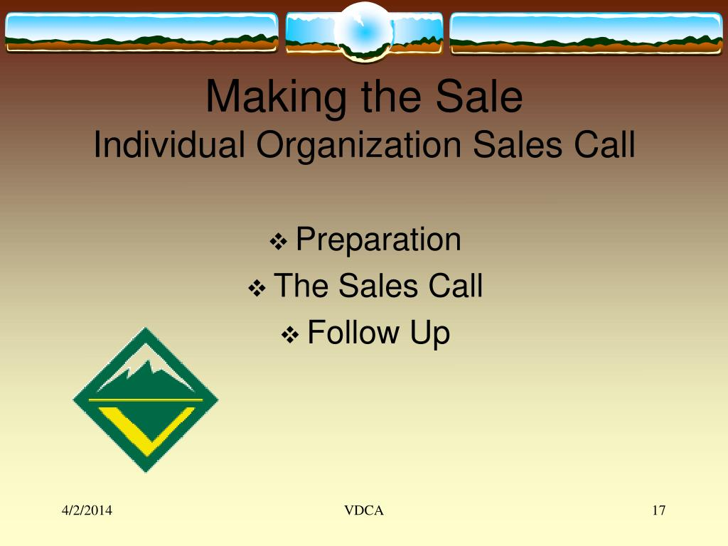Making the Sale