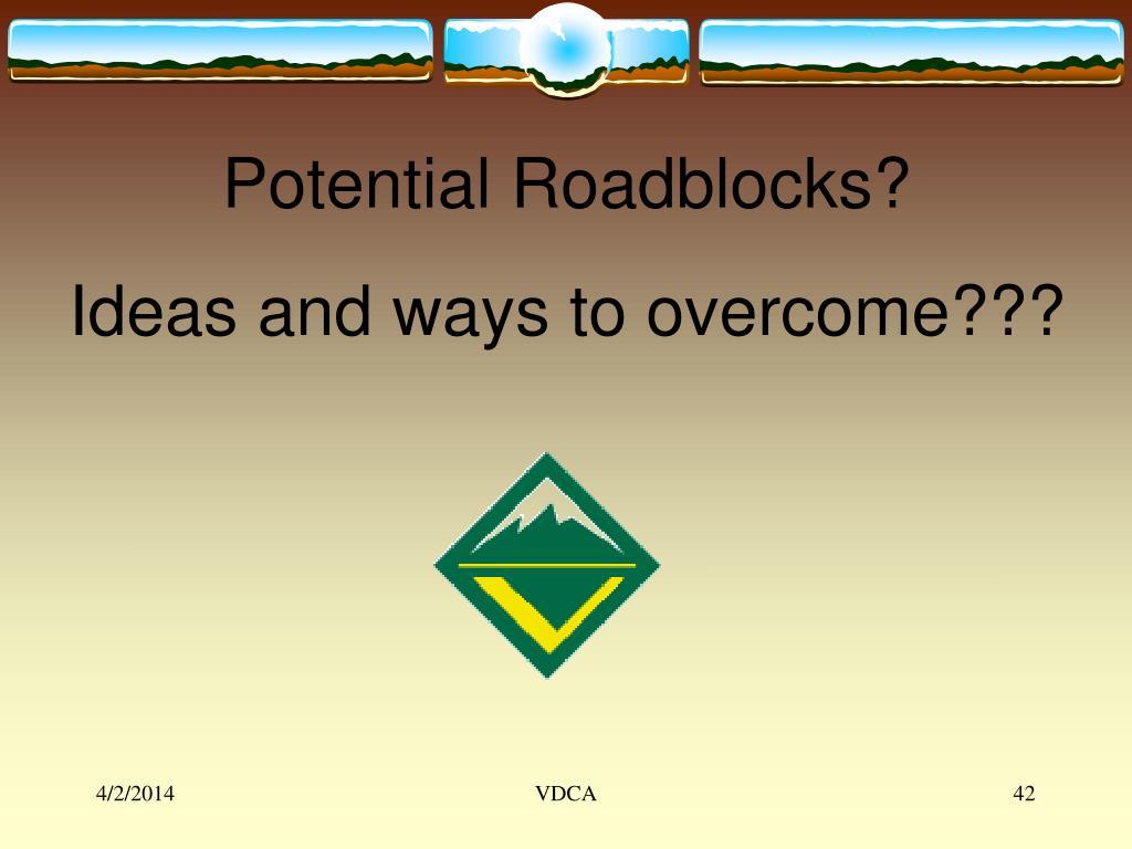Potential Roadblocks?