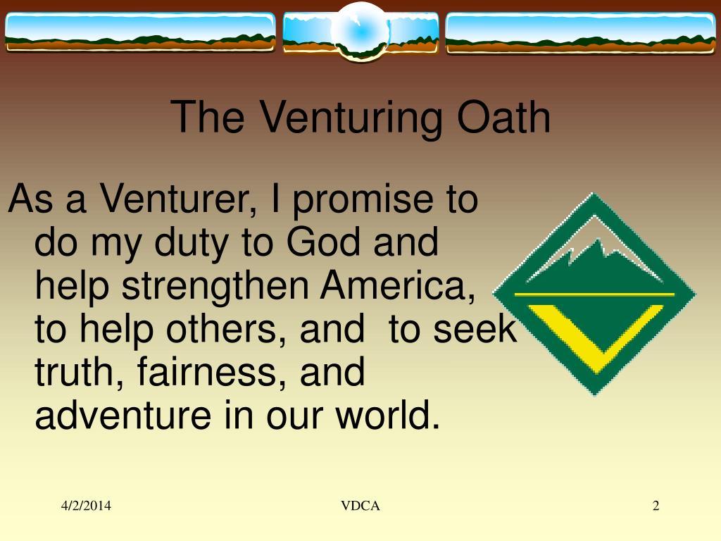 The Venturing Oath