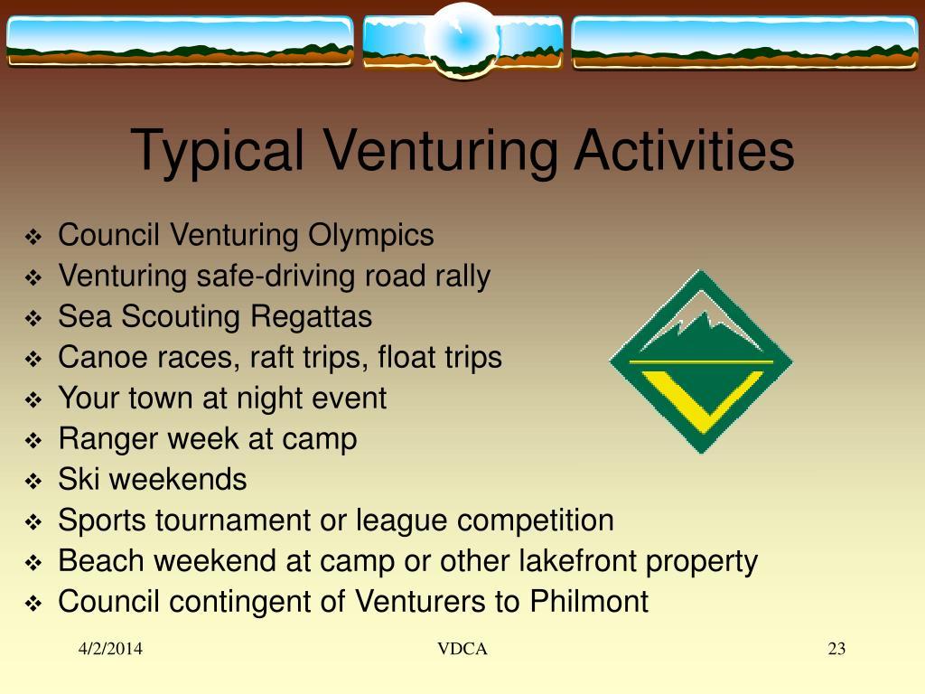 Typical Venturing Activities