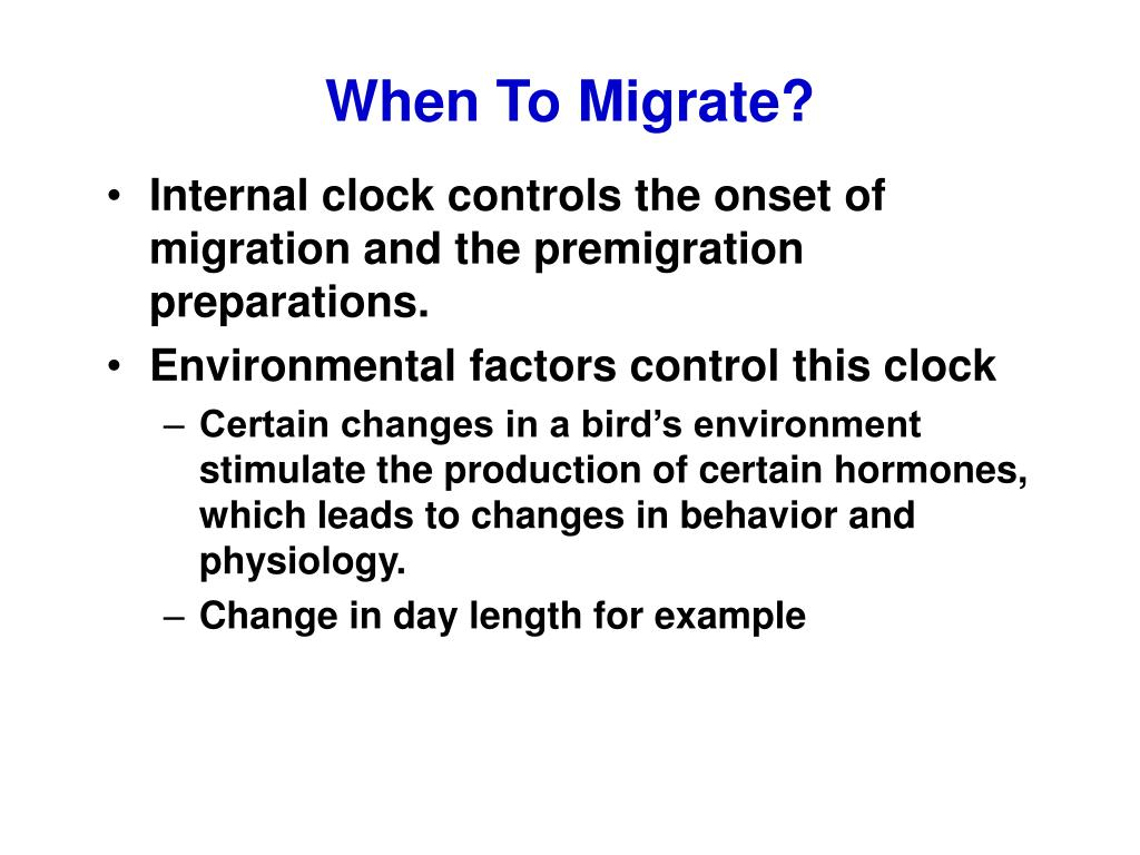 When To Migrate?