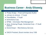 business career andy ellsweig
