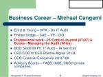 business career michael cangemi