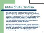 data loss prevention data privacy
