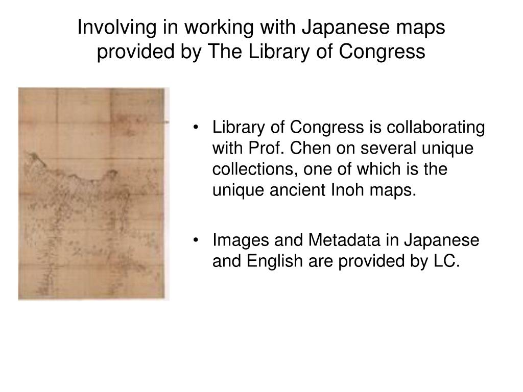 Involving in working with Japanese maps