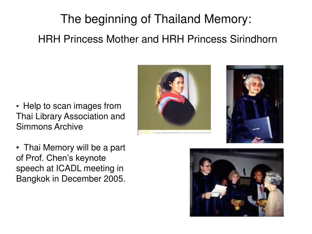 The beginning of Thailand Memory: