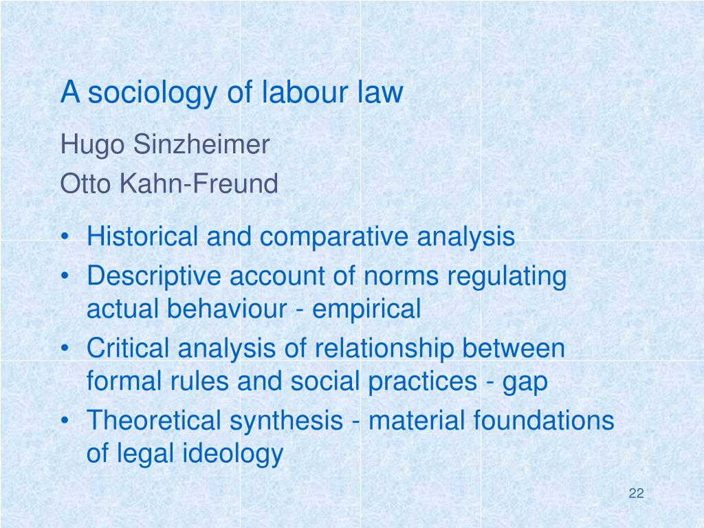 A sociology of labour law