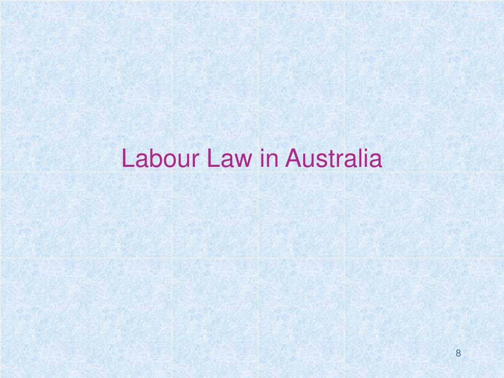 Labour Law in Australia