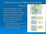 colonization of new islands by plants