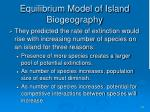 equilibrium model of island biogeography14