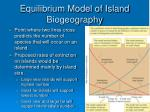 equilibrium model of island biogeography15