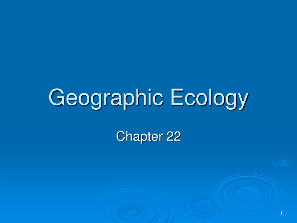 geographic ecology l.