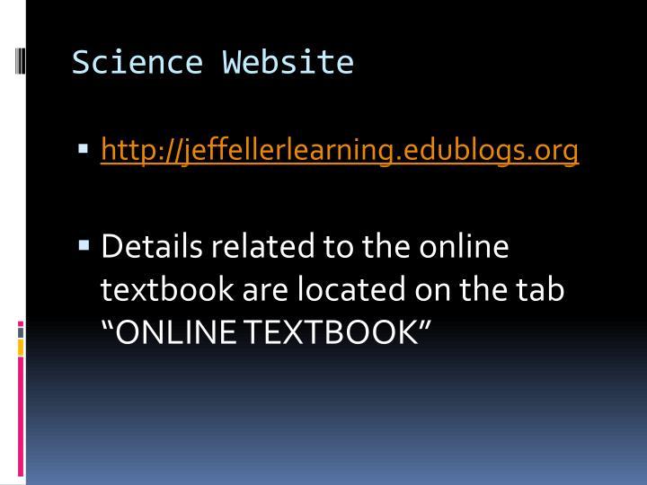 Science Website