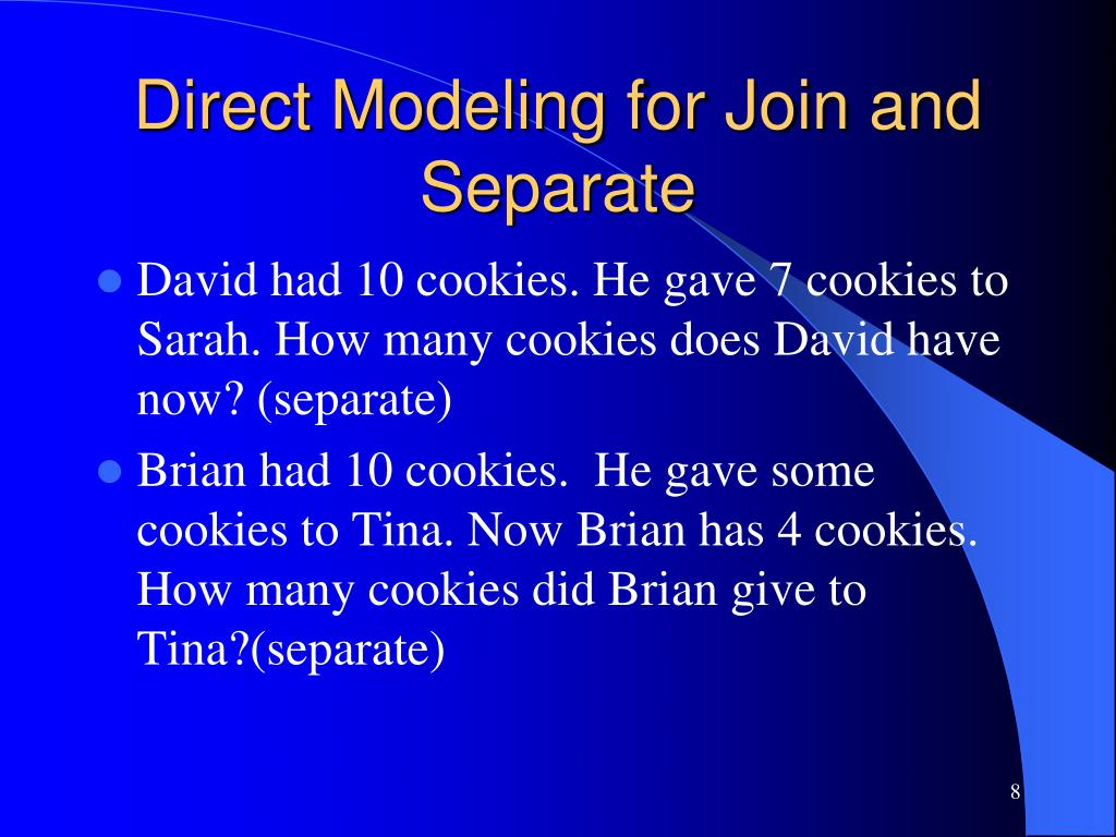 Direct Modeling for Join and Separate