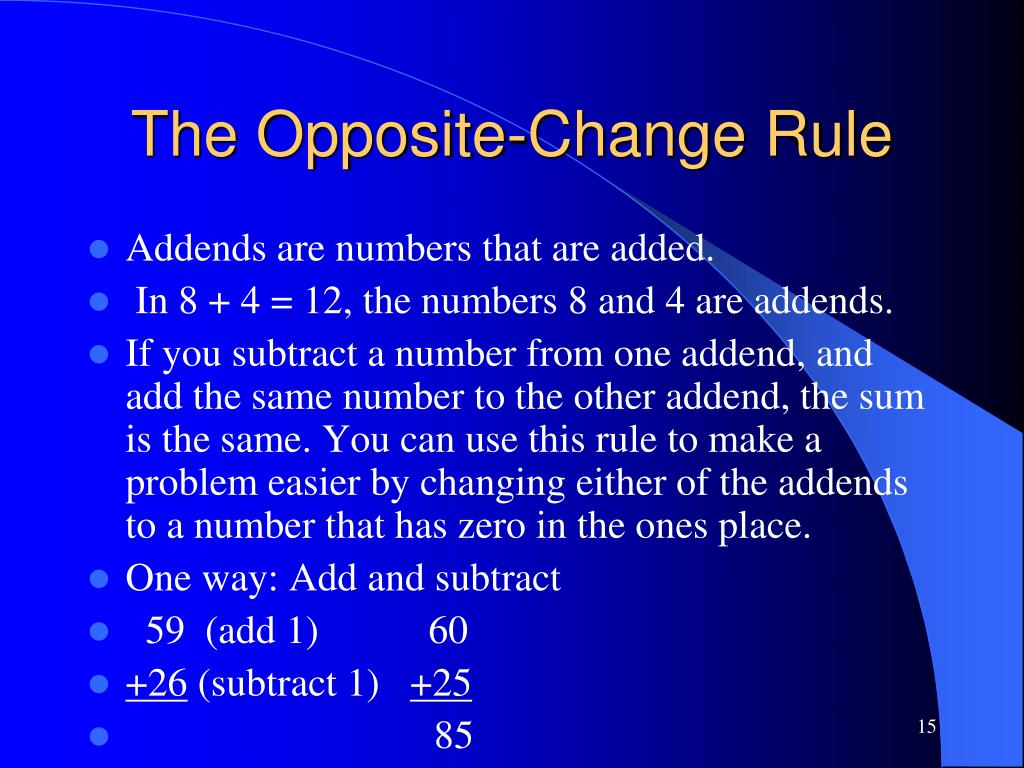 The Opposite-Change Rule