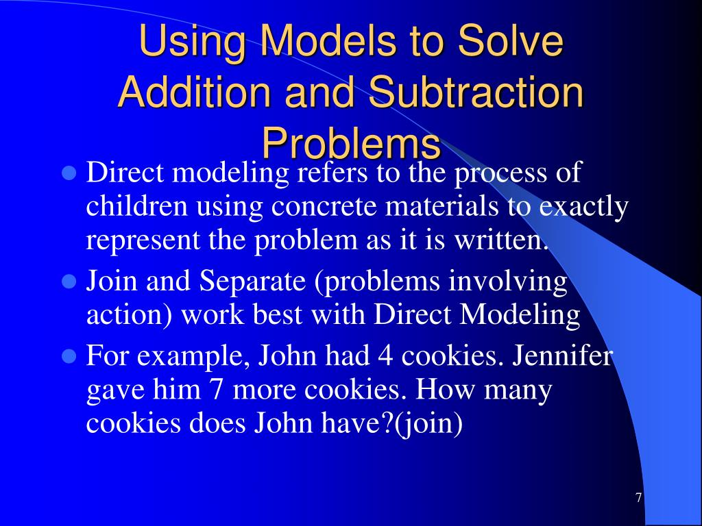 Using Models to Solve Addition and Subtraction Problems