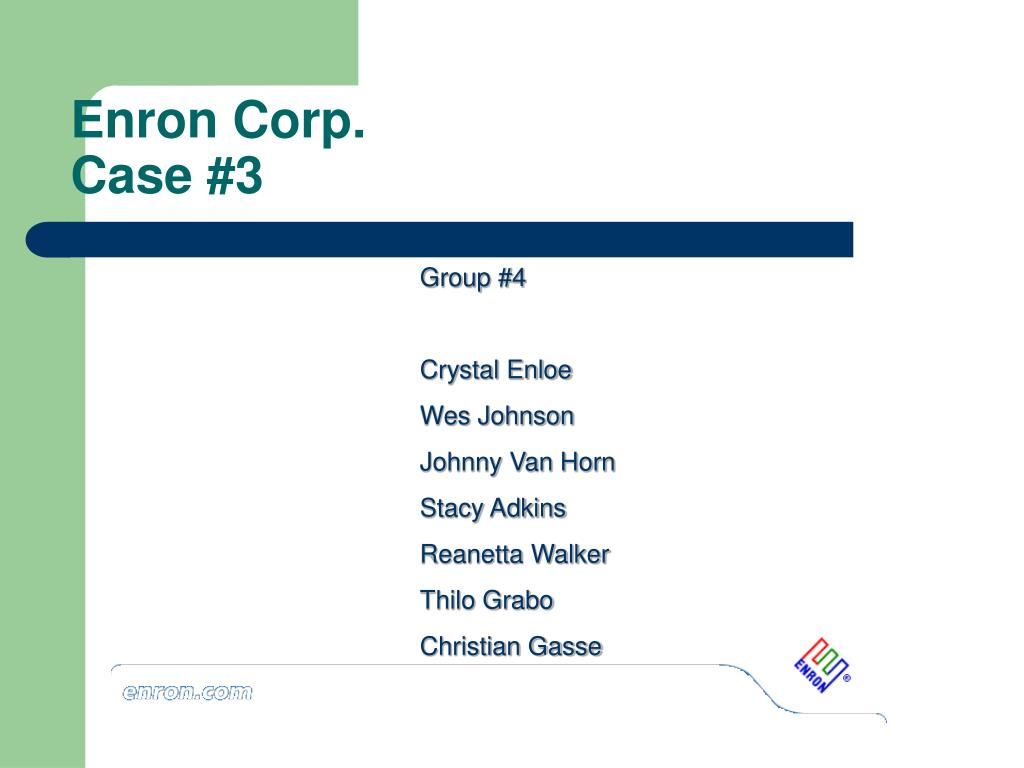 enron summary Less than one month later, enron filed for bankruptcy summary of findings this committee was established on october 28, 2001, to conduct an investigation.