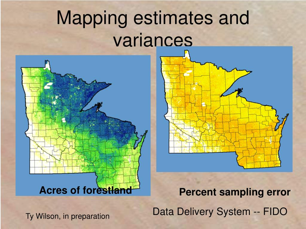 Mapping estimates and variances