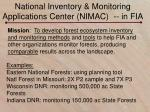 national inventory monitoring applications center nimac in fia