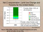 net c sequestration land use change and forestry for the united states