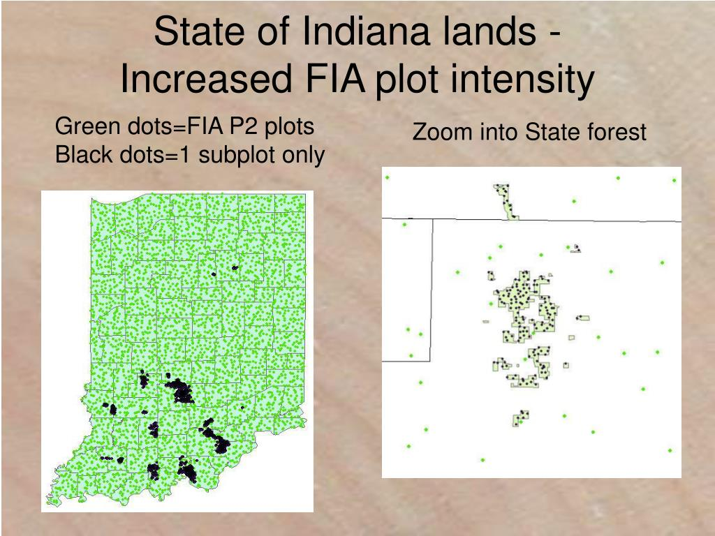 State of Indiana lands - Increased FIA plot intensity