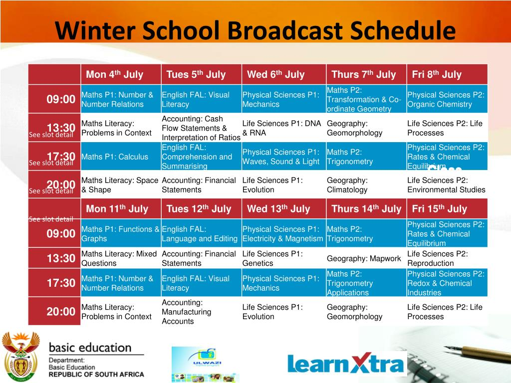 PPT - Winter Classes Learn Xtra and ULWAZI in partnership